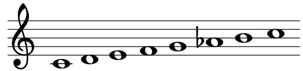 Scala maggiore armonica 01